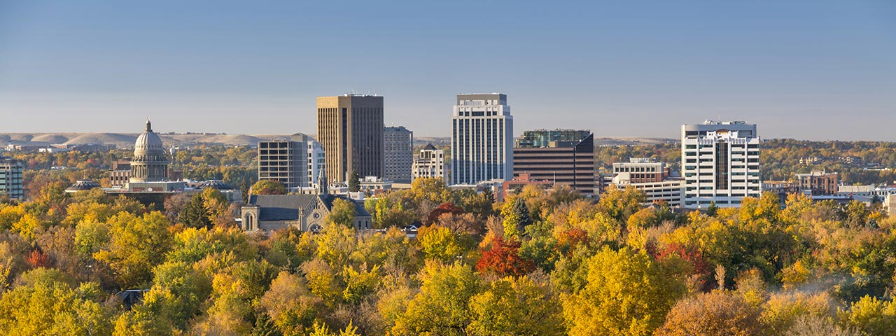 Boise Idaho Skyline in Fall